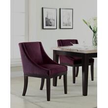 Monarch Easy-care Velvet Wingback Chair In Port Velvet Fabric With Solid Wood Legs and Inner Spring Cushioned Seat