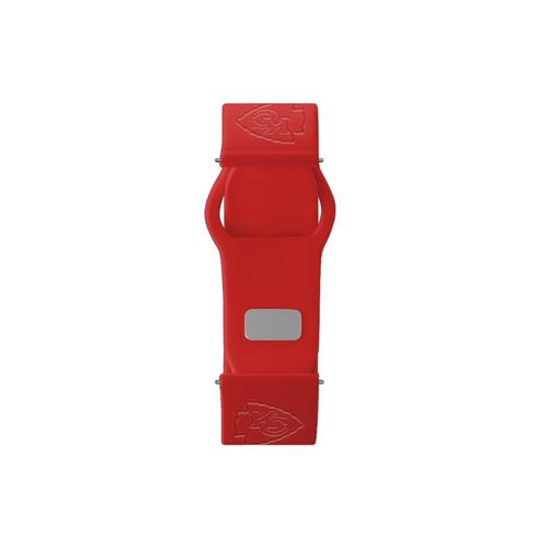 Kansas City Chiefs Debossed Silicone Watch Band (20mm) Red