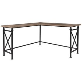 Jaeparli L-Desk Grayish Brown