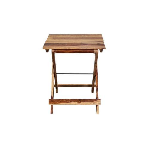Sheesham Accents Square Folding Table, ART-246