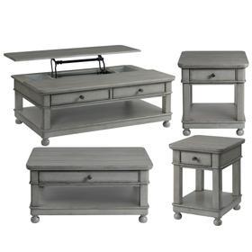 Bella Grigio - Lift-top Coffee Table - Chipped Gray Finish