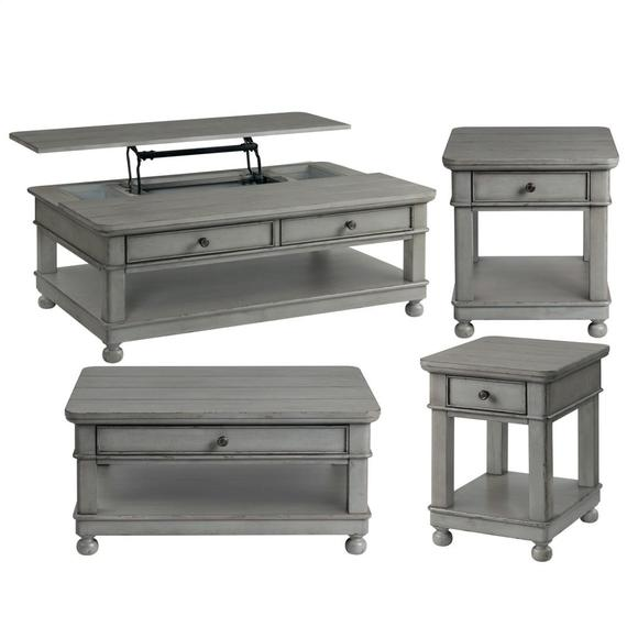 Riverside - Lift-top Coffee Table - Chipped Gray Finish
