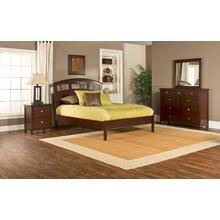 Metro 4pc Cherry Bedroom with Riva Queen Platform Bed
