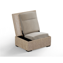 JumpSeat Ottoman, Oatmeal Cover / Almond Seat