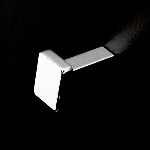 Lacava - Wall-mount single robe hook made of chrome plated brass.