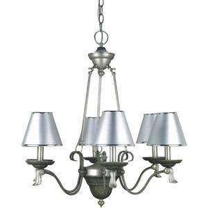 6-lite Chandelier Lamp, W/silver Paper Shade 60wx6/b Type