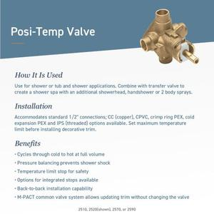 Dartmoor oil rubbed bronze posi-temp® valve trim