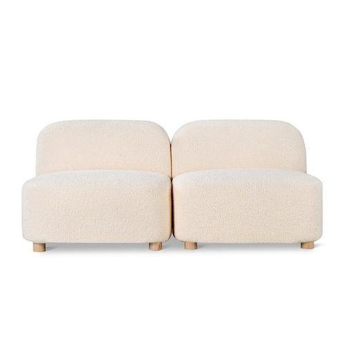 Circuit Modular 2-pc Armless Sofa Himalaya Cloud / Natural Ash