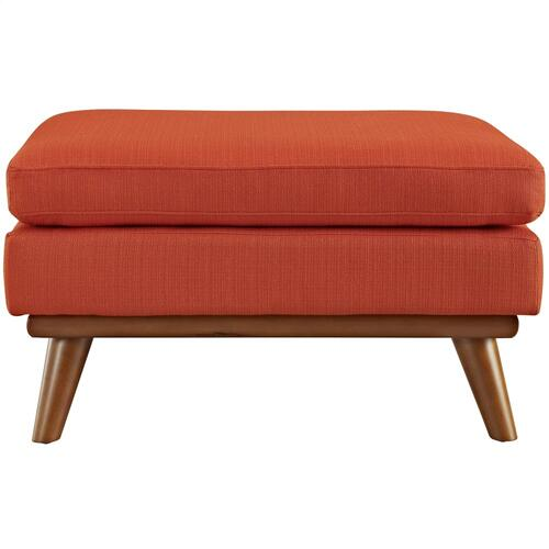 Modway - Engage Upholstered Fabric Ottoman in Atomic Red