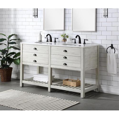 Coast To Coast Imports - 2 Drw Double Vanity Sink