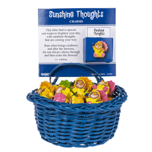 Sunshine Thoughts Charms in a Basket (24 pc. ppk.)