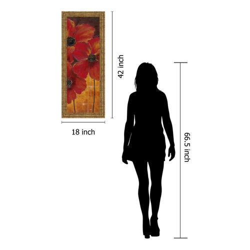 """Midnight Poppy Il"" By Richard Henson Framed Print Wall Art"