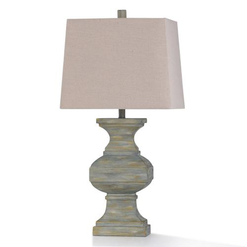 HOT SPRINGS TABLE LAMP  17in w. X 33in ht. X 10in d.  Traditional Colonial Washed Stone Style Tabl