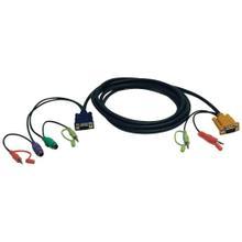VGA/PS2/Audio Combo Cable Kit for KVM Switch B006-VUA4-K-R, 10 ft.