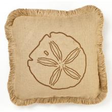 Brown Sand Dollar Burlap Pillow