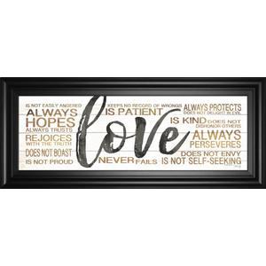 "Classy Art - ""Love"" By Marla Rae Framed Print Wall Art"