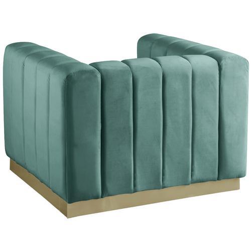 "Marlon Velvet Chair - 38.5"" W x 34"" D x 28"" H"