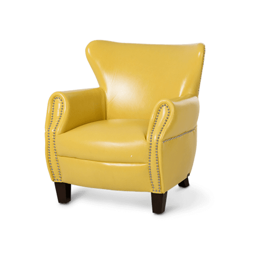 Bladen Leather Accent Chair Lemon Espresso