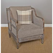 View Product - (F925) Accent Chair with Pillow- Wire Brush Gray/Taupe