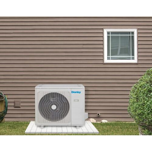 Danby 18,000 BTU Mini-Split Air Conditioner with dual Air Handlers; Heat pump and variable speed inverter