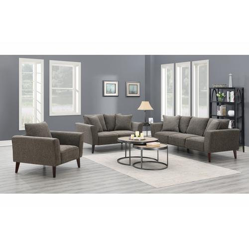 Porter International Designs - Percy Gray Sofa, Loveseat & Chair, U5310