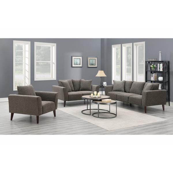See Details - Percy Gray Sofa, Loveseat & Chair, U5310