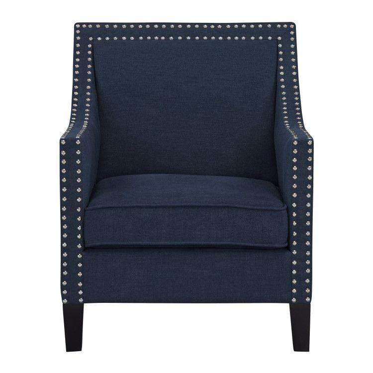Hailey Accent Chair, Navy