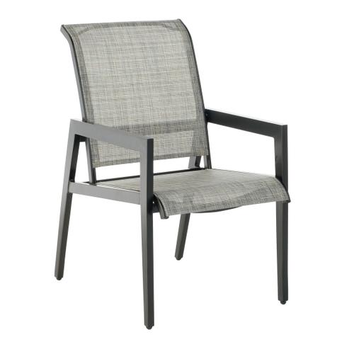 Aston Stackable Sling Dining Arm Chair