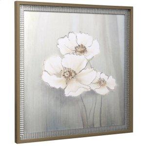 White Floral II Print 27x27in
