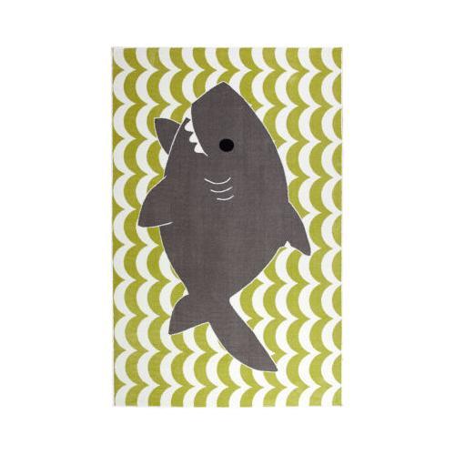 Mohawk - Smiling Shark, Lime Green- Rectangle