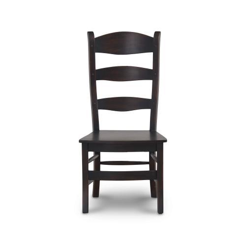 Gallery - Peg & Dowel Ladder Back w/ Wooden Seat