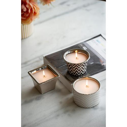 S/3 Herringbone Candles
