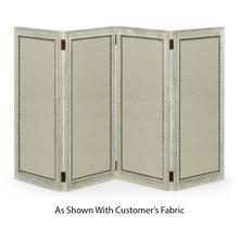 See Details - Light Grey Oak Screen, Upholstered in COM
