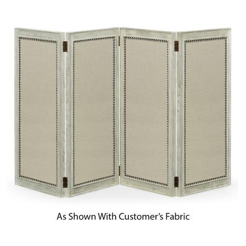 Jonathan Charles - Light Grey Oak Screen, Upholstered in COM