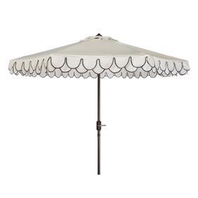 Elegant Valance 11ft Rnd Umbrella - White / Black