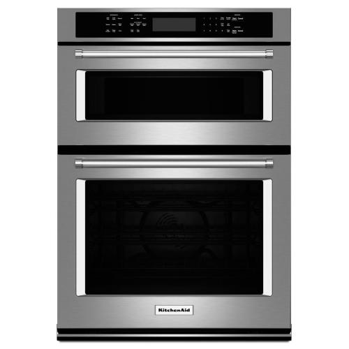 "KitchenAid® 30"" Combination Wall Oven with Even-Heat True Convection (Lower Oven) - Stainless Steel"