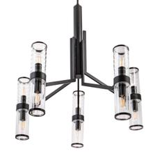 Stripe Chandelier - Matte Black