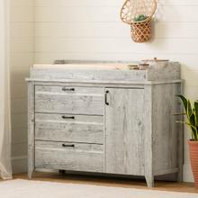 Lionel - Changing Table with Drawers, Seaside Pine