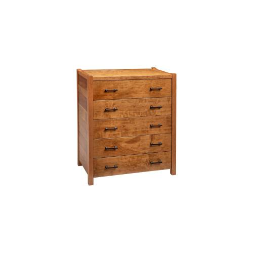 Fullerton 5 Drawer Chest - Honey