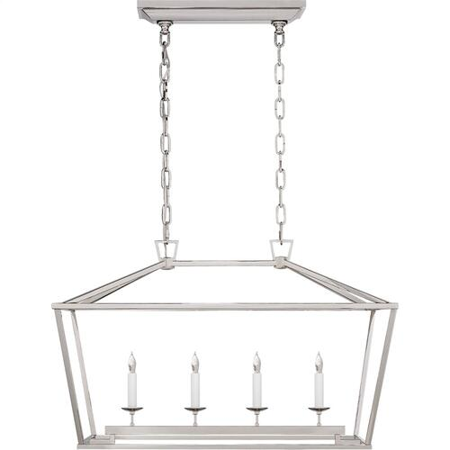 Visual Comfort CHC2168PN E. F. Chapman Darlana 4 Light 30 inch Polished Nickel Linear Lantern Ceiling Light, Small