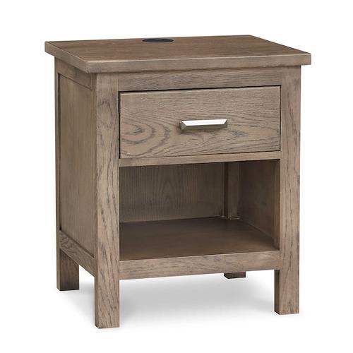 Gallery - Abingdon Oak Bedside Table w/Charger
