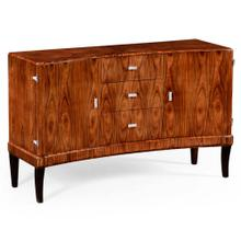 Art Deco curved sideboard with stainless steel (Satin)