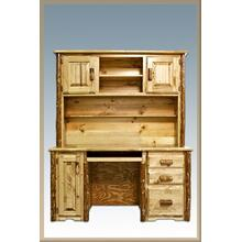 Glacier Country Log Desk with Hutch