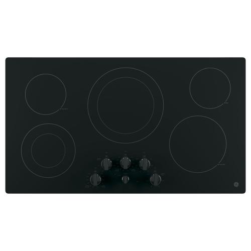 "GE 36"" Electric Smoothtop Cooktop Black JP3536DJBB"