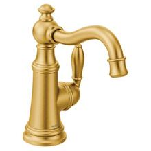 Weymouth brushed gold one-handle kitchen faucet