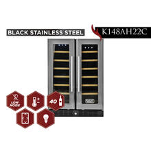 View Product - KUCHT 40-Bottle Dual Zone Wine Cooler Built-in with Compressor in Stainless Steel