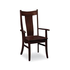Arnold Arm Chair, Wood Seat