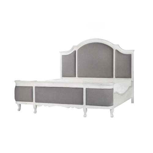 Emerald Home Bordeaux Queen Upholstered Headboard White, B312-10hb