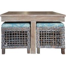 View Product - Hassock Table, Available in Vintage Smoke Finish Only.