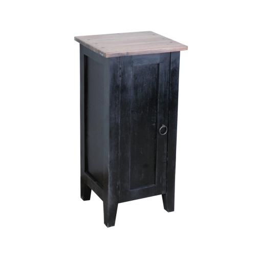 CC-TAB1025TLD-ABSV  1 Door Accent Cabinet  Antique Black